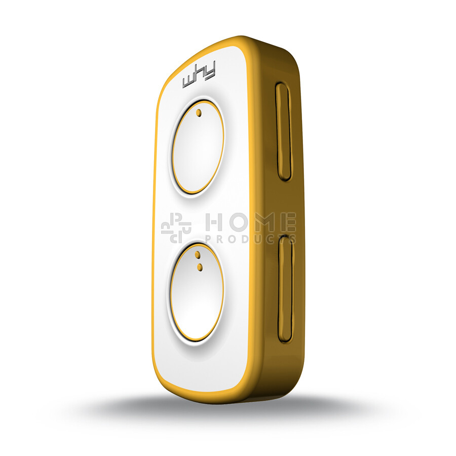 Why Evo Mini universal remote control (replacement remote), Pure Yellow også til Mhouse TX4 / TX3